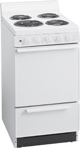 White on White Oven Range EAK 100O