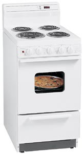 White on White Oven Range EAK 220