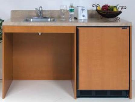 ADA Compliant 60 inch wide wheelchair accessible Compact Kitchen Unit