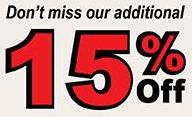 Take Off an additional 15% from already discounted New Bathroom Sink Vanity Models - Limited Time Offer