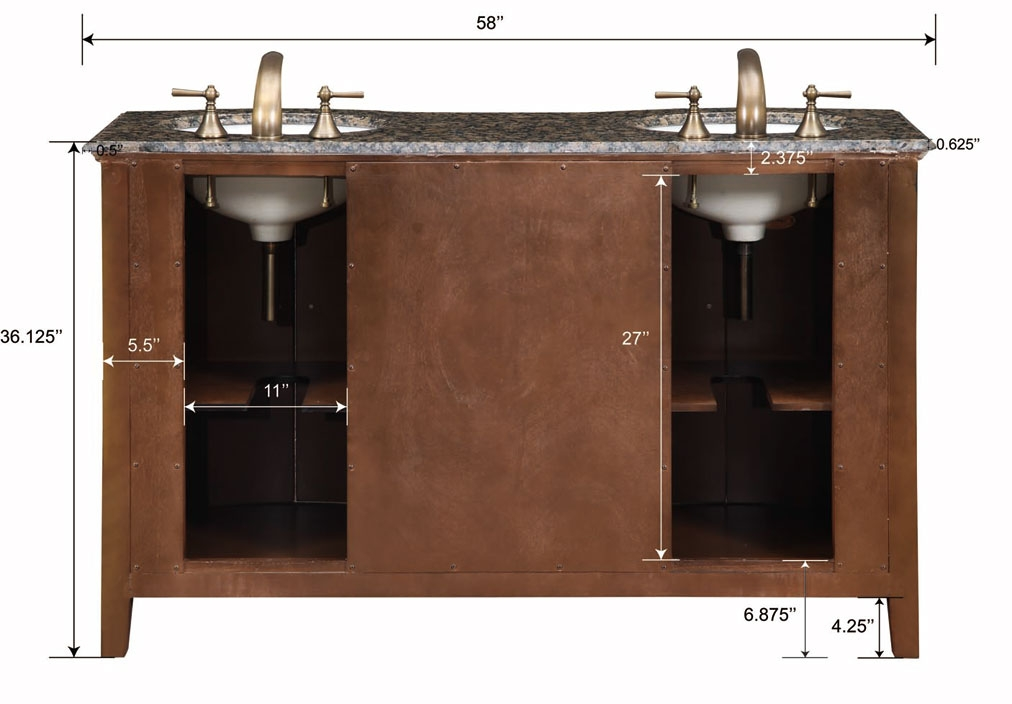 58 inch carnation vanity double sink chest double sink cabinet