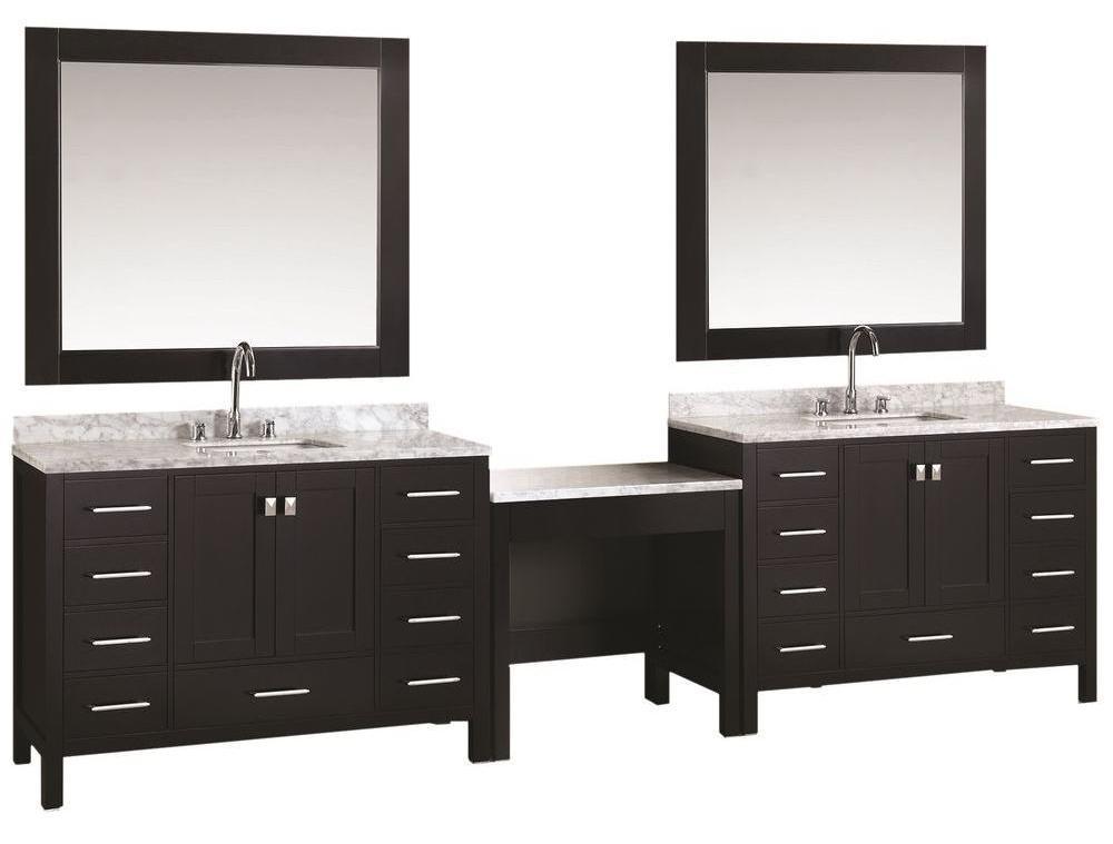 Double Sink Bathroom Vanity With Makeup Table Dresser For Bathroom Vanity Elegant Luxury