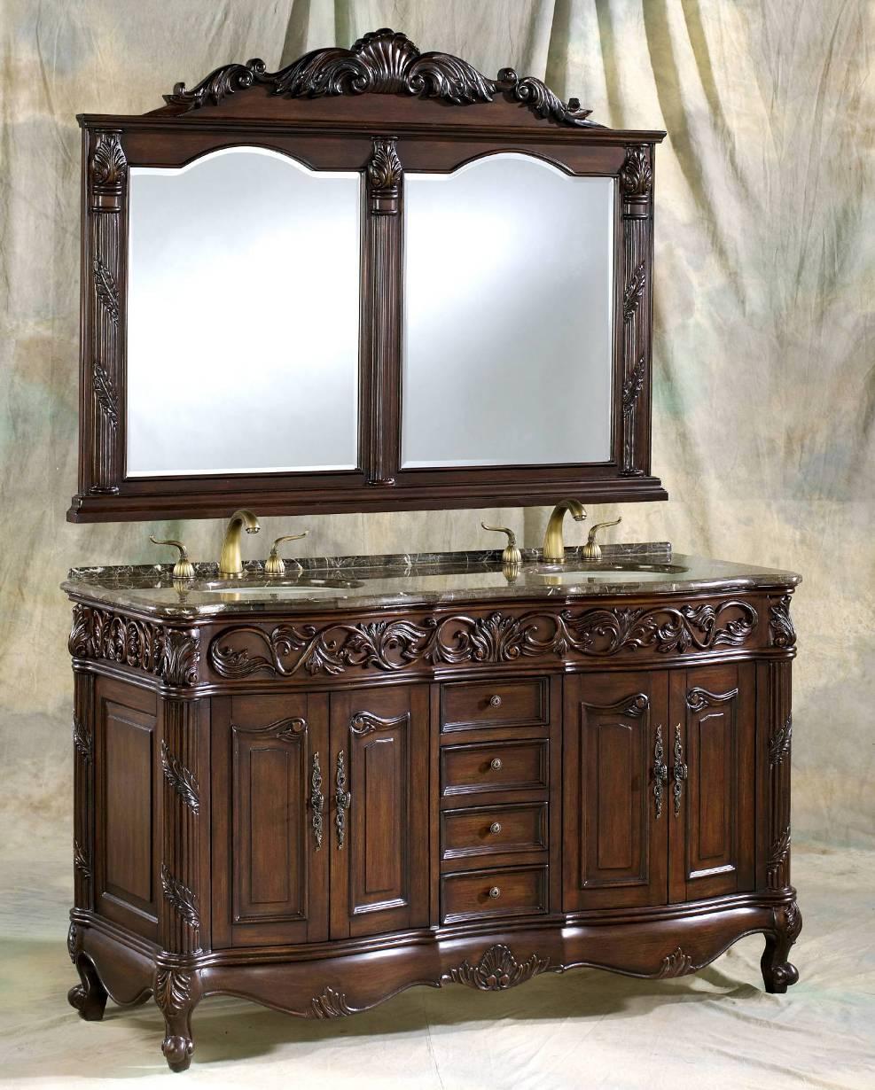 60-Inch Bertha Vanity | Matching Set Mirror | 60-Bertha ...