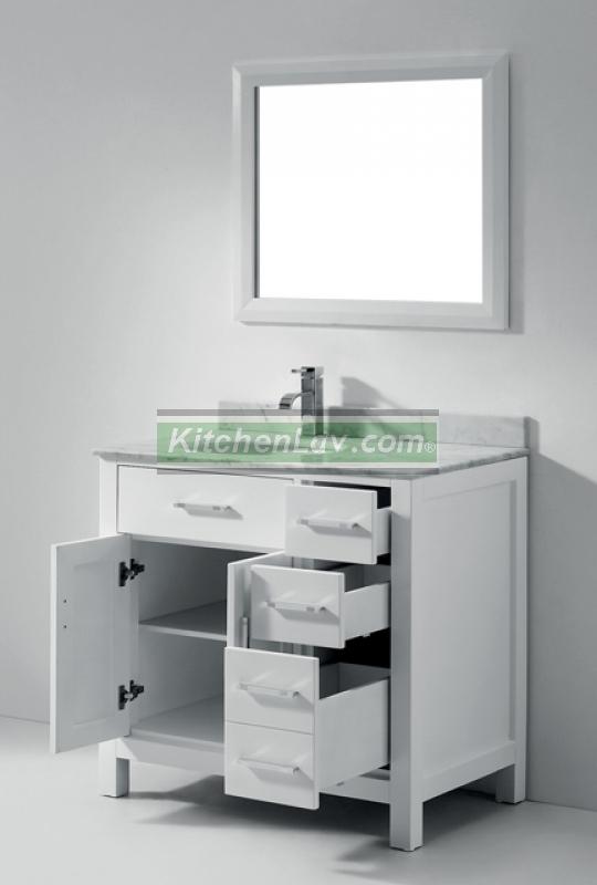 36 Inch Asta Vanity White Sink Vanity Espresso Sink Vanity